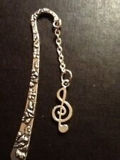 Music note book marker silver in colour