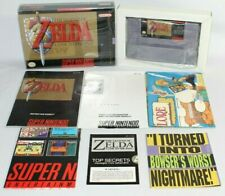 Zelda: A Link to the Past SNES Complete CIB w/ Map, Secrets, & Poster VERY NICE!