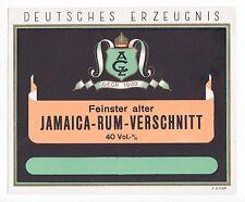 ZEITZ ACZ Arthur Cappel JAMAICA RUM Etikett label étiquette rhum x1144