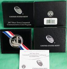 2017 Boys Town Centennial Proof Clad Half Dollar Commemorative Coin Box and COA