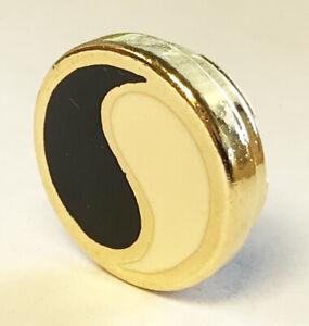 Yin Yang Button Cover for Banded Collar Tuxedo Shirt Formal Nehru Mandarin