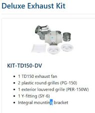 NEW Soler&Palau KIT-TD150-DV White Mixvent Dual-Vent In-Line Exhaust Fan Kit