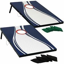 Sunnydaze Portable 2' x 3' Cornhole Game Set with 2 Boards and 8 Bean Bags