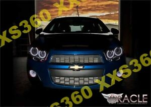ORACLE Halo HEADLIGHTS for Chevrolet Sonic 12-15 WHITE LED Angel Eyes