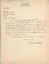 E. Wight Bakke Autographed Handwritten Letter Yale University Sociology D.71