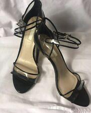 5ef53f7be0c3c BCBGeneration Women s Black Sandals Clear Pumps Slim Heels Ankle Strap Size  10