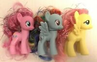 3PC My Little Pony G4 MLP Hasbro - all different Rainbow Dash brushable Tinsel
