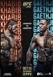 "UFC 254 Official 22"" x 28"" Fight Poster Champion Khabib Vs Champion Gaethje"