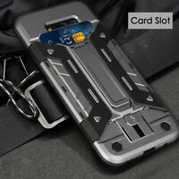 [Slim-Fit] Armor Case with Card Slot Holder Kickstand for Samsung Galaxy S8 Plus