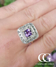 Diamond Cocktail Amethyst Fine Rings