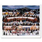 "Jane Wooster Scott ""Alpine Winter Grandeur"" Signed LE 24x28"" Lithograph (PA LOA)"