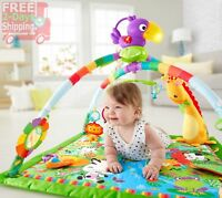 Baby Gym Newborn Girl Boy Fun Activity Music Lights Colorful Design Skill Buil