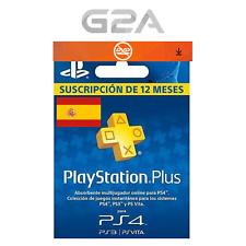 Playstation Plus 365 Días Tarjeta Sony PSN 12 Meses 1 Año Suscriptión Código  ES