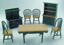 Dolls House Miniature KITCHEN SET Dresser,Stove,Table, chairs 1:12 Streets Ahead