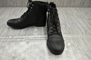 Madden Girl Fuze Combat Ankle Boots, Women's Size 8.5, Black NEW
