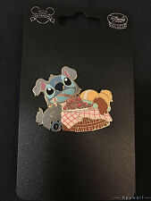 Japan Disney STITCH DRESSED AS LADY & THE TRAMP Costume Stitch & Scrump Pin