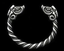 Vintage Silver Men's Handmade Norse Viking Animal Open Cuff Bangle Bracelet