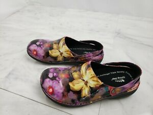 SPRING STEP Women's Shoes Slip On Slip Resistant Health Floral Sz 8.5 M