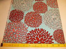 Robert Kaufman, Red/Blue floral 100% cotton quilting fabric, fat quarter