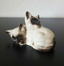 Vintage ROYAL DOULTON England SIAMESE Kittens Cat FIGURINE  #1296 Excellent