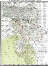 Landkarte ILLYRIEN ⚡️🇮🇹⚡️ Görz Kärnten Krain Istrien Triest Palma Grado 1860