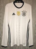ADIDAS 2016 Germany Home White Black Long Sleeve Soccer Jersey NEW Mens 2XL XXL