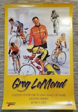 2000 US Bicycling Hall of Fame Poster - Signed by Greg Lemond