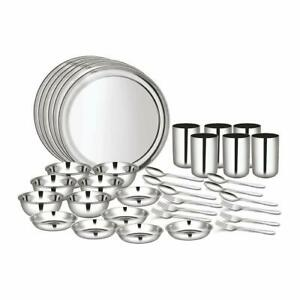 Shri & Sam High Grade Stainless Steel Dinner Set 36 Pieces 6 People