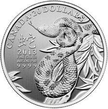 CANADA 2013 $20 Dollar Proof Silver - Year of the Snake - 1/4 oz Pure silver