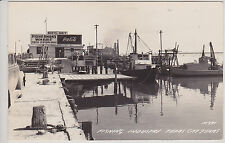 TEXAS CITY, TX FISHING INDUSTRY OF TEXAS CITY. VINTAGE REAL PHOTO POSTCARD RPPC