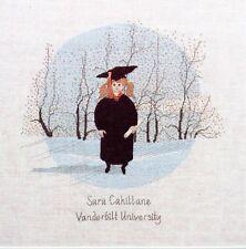 P. Buckley Moss - Graduation Girl - Cross Stitch Leaflet #123 1991