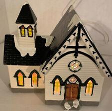 """Dept 56 """"Church Of The Open Door"""" ~ (1986) ~ * Original Snow Village *"""