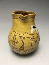 Early Colonial Williamsburg Repro Sgraffito Redware Pottery Glaze Trial 1792 Jug