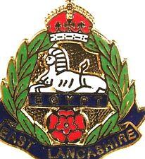 EAST LANCASHIRE REGIMENT REGIMENTAL PLATED HAND MADE IN UK LAPEL PIN BADGE