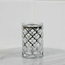 Moroccan Style Glass Clear Bathroom Tumbler Accessory Holder Vintage Kitchen