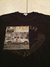 Men's Paul Smith Graphic T-Shirt Black Multicolor Car Eagle Vtg Designer L L/S