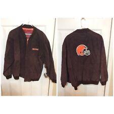 VINTAGE Reebok Cleveland Browns Suede jacket Size XL Full Zipper Front EUC