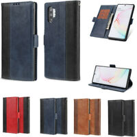 For Samsung Note 10+ Note9 / 8 Magnet Flip Leather Wallet Card Stand Case Cover