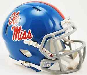 MISSISSIPPI OLE MISS REBELS NCAA Riddell SPEED Authentic MINI Football Helmet