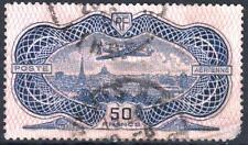 "FRANCE AERIEN 15 "" AVION CAUDRON SIMOUN 50F BURELAGE ROSE 1936 "" OBLITERE  M404"