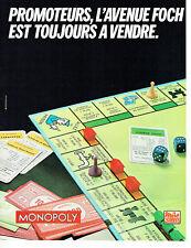 Publicité Advertising 028  1980   Miro jeux jouets le Monopoly av Foch