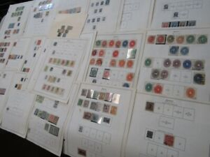 Nystamps Mexico old stamp collection Minkus page with better