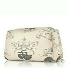 ORIGINS Black & Ivory Make-Up Bag Cosmetic Travel Case Explorer's Club Cotton NW