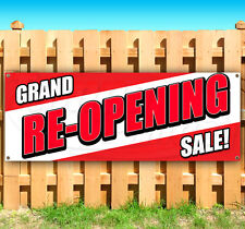 Grand Re Opening Sale Advertising Vinyl Banner Flag Sign Many Sizes Usa