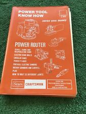 Sears Craftsman Power Tool Know How Power Router Other Tools Manual 1977 Illust.