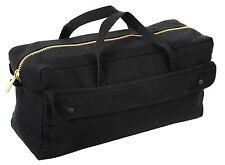 Black Canvas Professionals BIG Tool Bag Brass Zipper Contractor Painter Mechanic