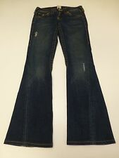True Religion Womens 27 Hemmed Joey Boot Cut Blue Jeans Pants Fair Condition