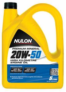 Nulon Premium Mineral Oil High KM 20W-50 5L PM20W50-5 fits Toyota Liteace 1.3...