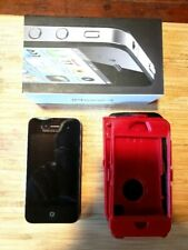 Apple IPhone 4 w/ Charger/Earbuds/Case 8G Factory Reset