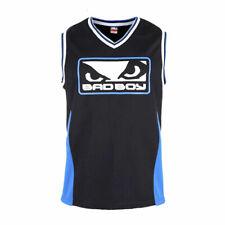 Bad Boy Icon Jersey Black Blue Boxing Striking Sparring Training Top Vest Gym